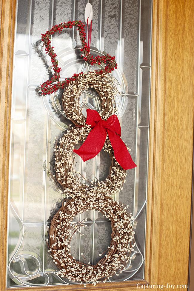 Ourdoor Snowman Wreath