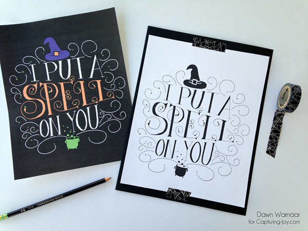 Hand-Lettered Halloween Printable | Dawn Warnaar for Capturing-Joy.com