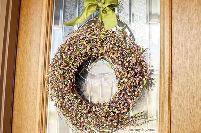 Spring pastel outdoor wreath