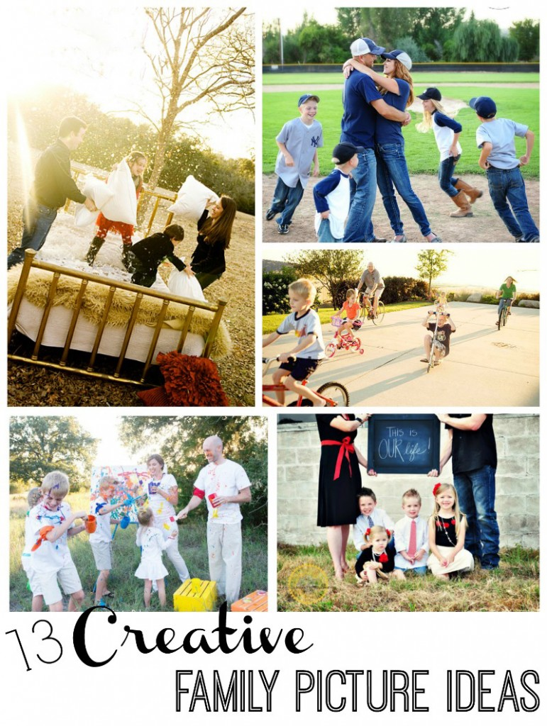 How to plan creative family pictures