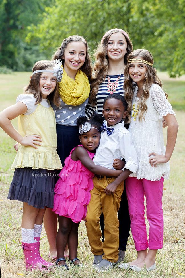 Cute Girls Hairstyle Family Portraits by Kristen Duke