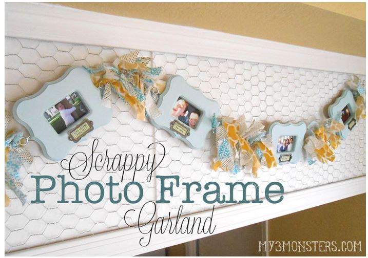 photo frame garland