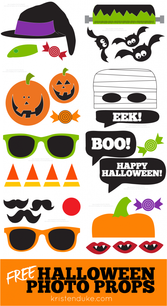 photograph about Free Halloween Printable named Printable Halloween Photograph Booth Props Kristen Duke