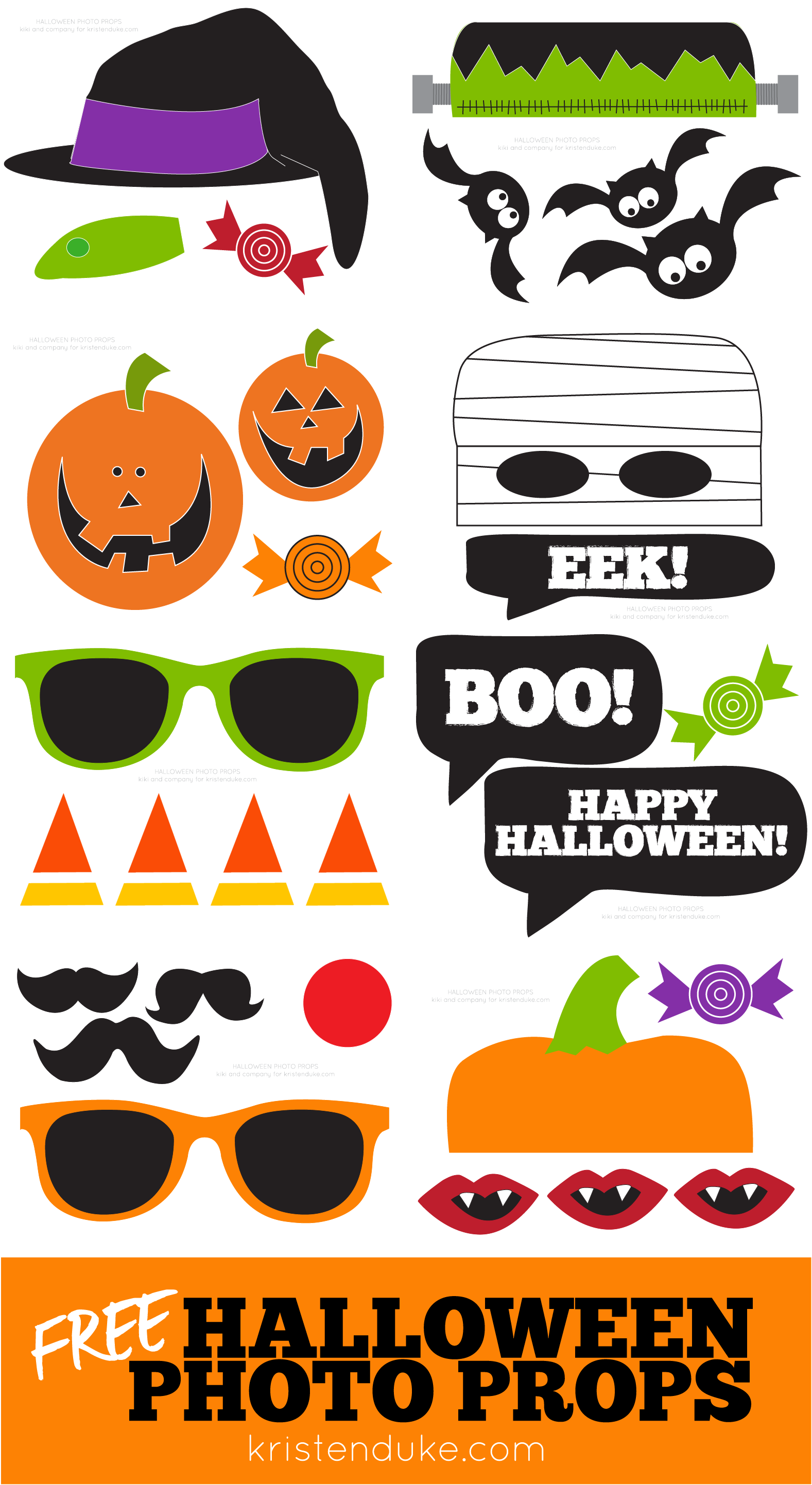 Halloween Photo Booth Free Printable Props Capturing Joy