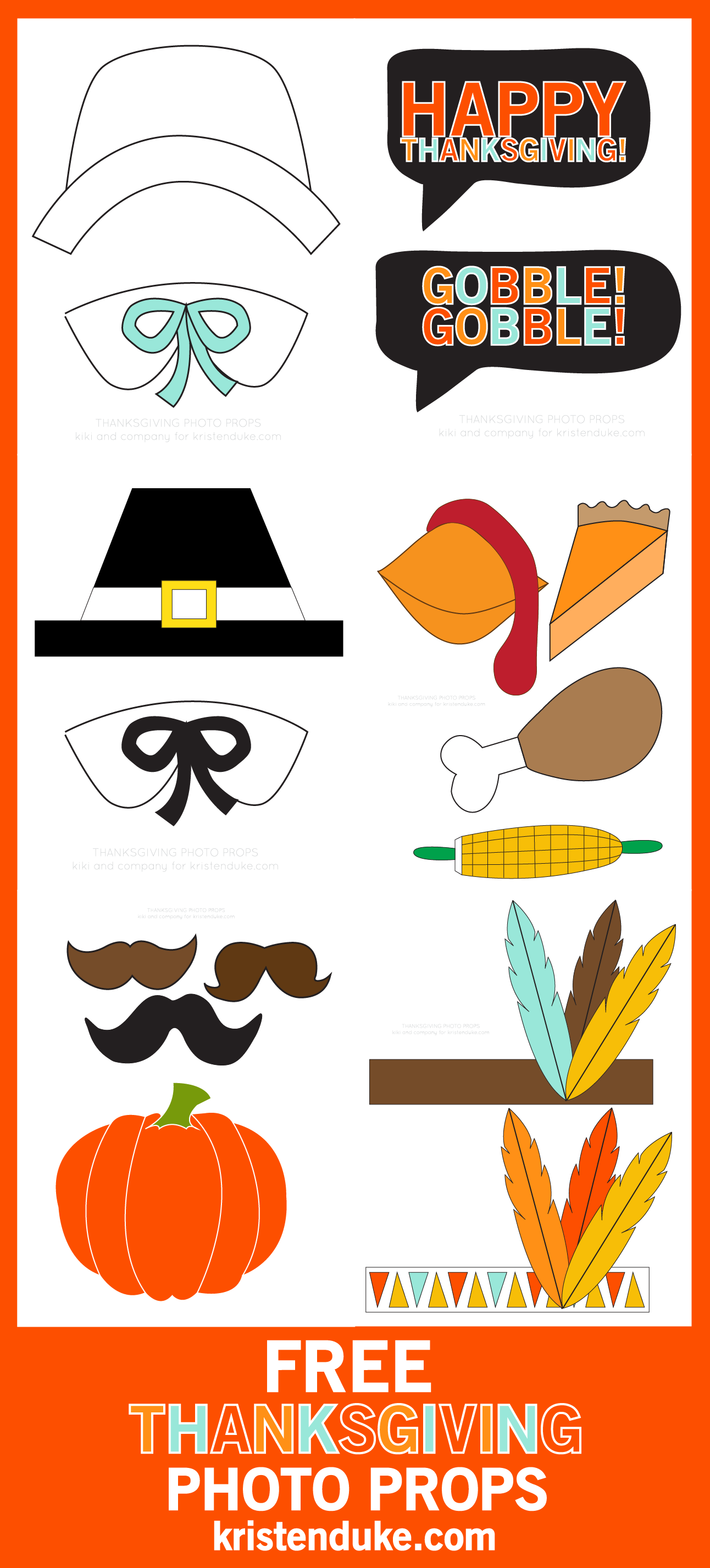 Thanksgiving Photo Booth Free Printables
