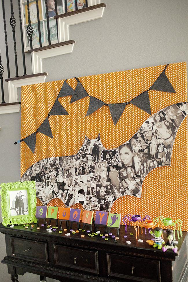Halloween Photo Bat Collage