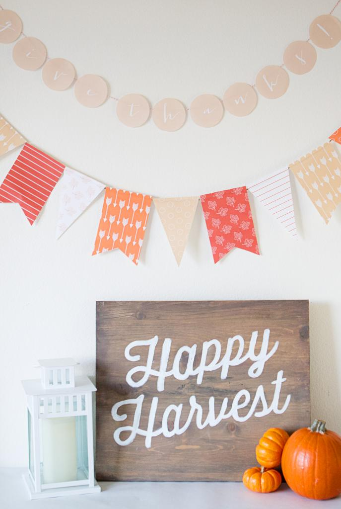 This is a picture of Exhilarating Thanksgiving Banner Printable