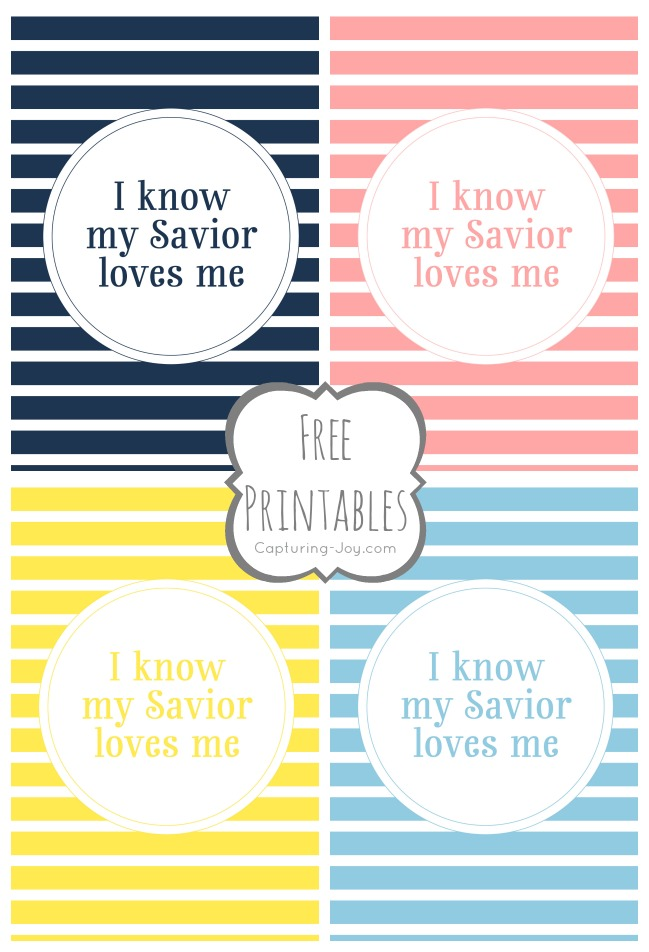 I know my Savior Loves me Free Printables