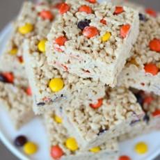 Reese's Pieces Rice Krispie Treats