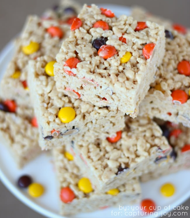 reeses pieces rice krispie treats