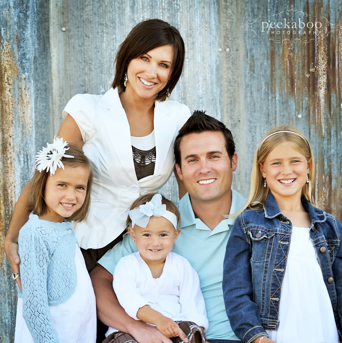 Baby blue clothes in family pictures