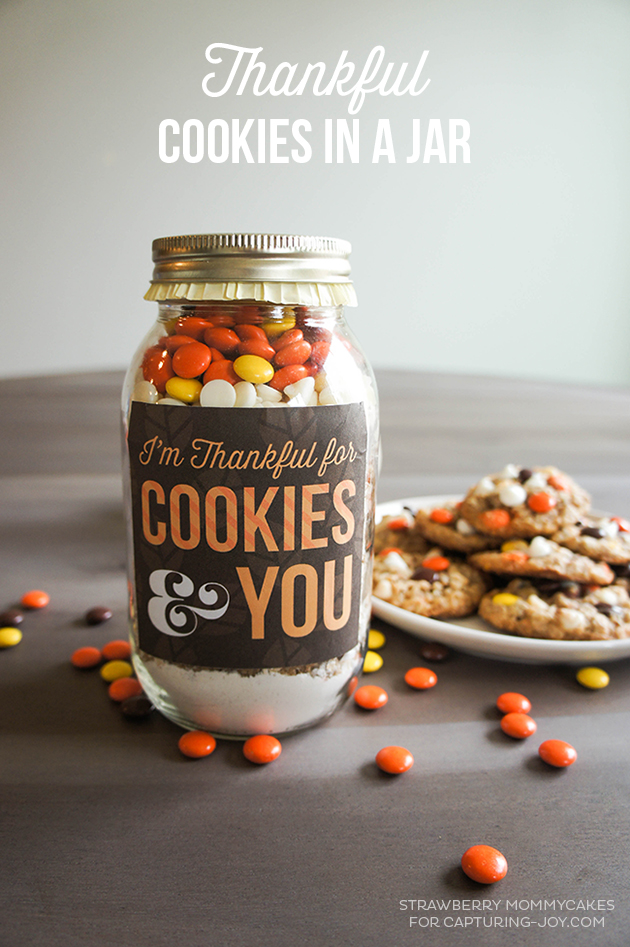 Thankful Cookies in a Jar Mix and printables