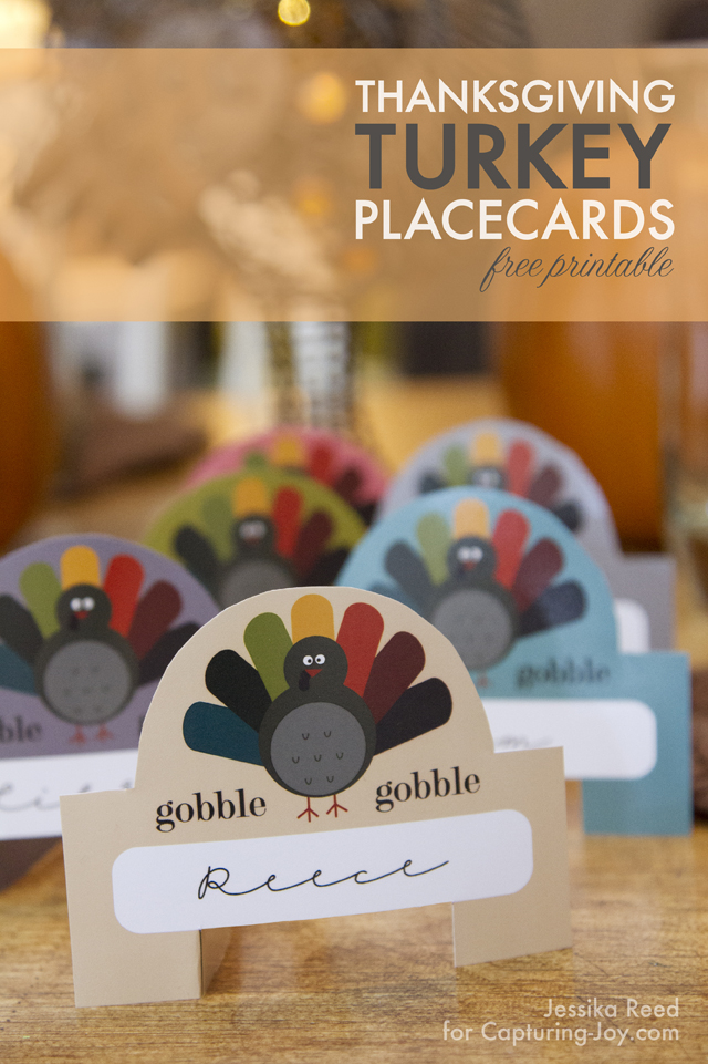 Thanksgiving Turkey Placecards