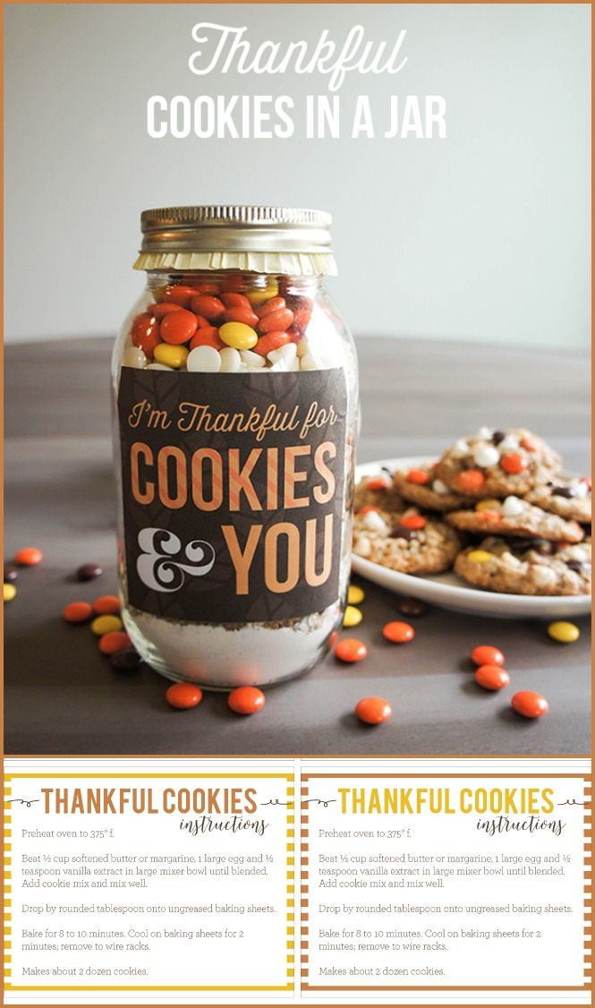 Thankful Cookies In A Jar Mason Jar Cookies For Those You Re Thankful For