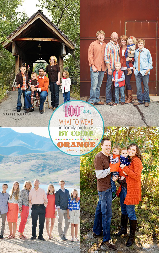 Family Picture Clothes By Color Series Orange Capturing