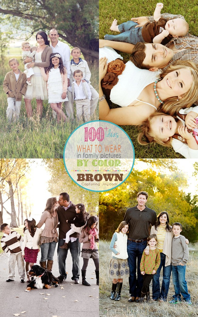 Picture Clothes By Color Series Brown Capturing Joy With