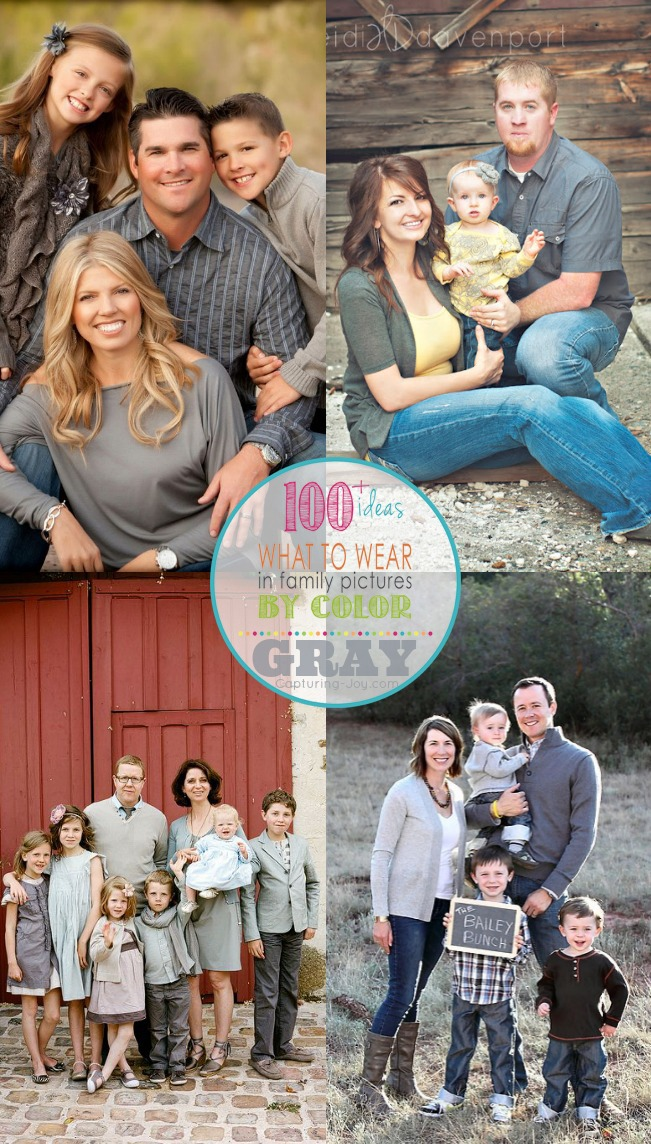 Family Picture Clothes By Color Gray Capturing Joy With