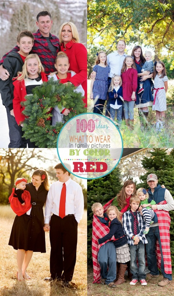 What to wear in family pictures by color--red edition by Capturing-Joy - Family Picture Outfits By Color Series-Red - Capturing Joy With