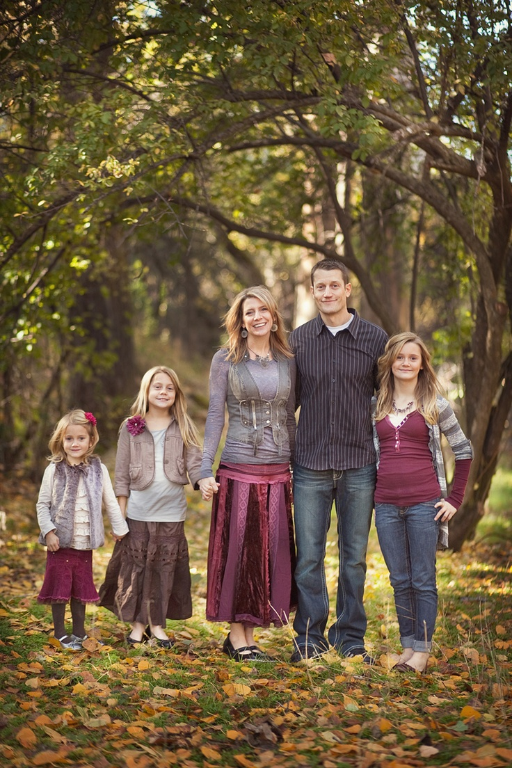 Family picture clothes by color series purple capturing Fall family photo clothing ideas