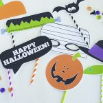 Halloween photo booth printables