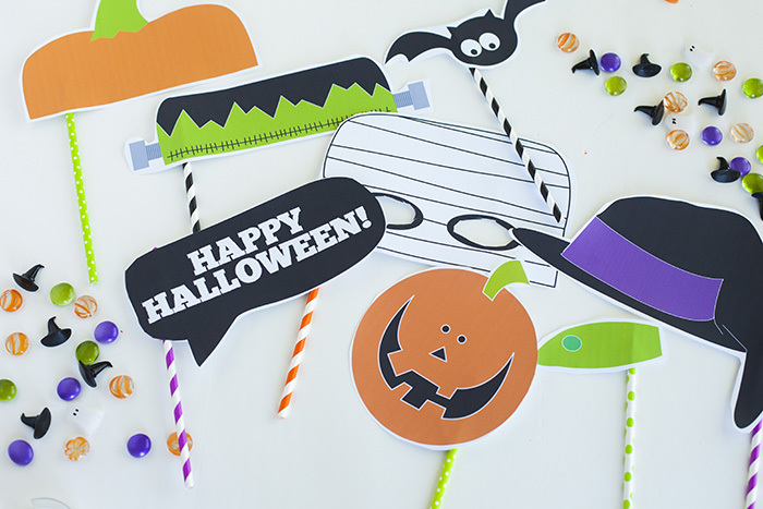 photograph regarding Halloween Photo Booth Props Printable Free named Printable Halloween Picture Booth Props Kristen Duke