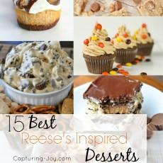 15 BEST Reese's Inspired Desserts-Capturing-Joy.com