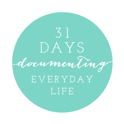 a 31 day series on how to docment your everyday lfe by Utah photographer Carrie Owens