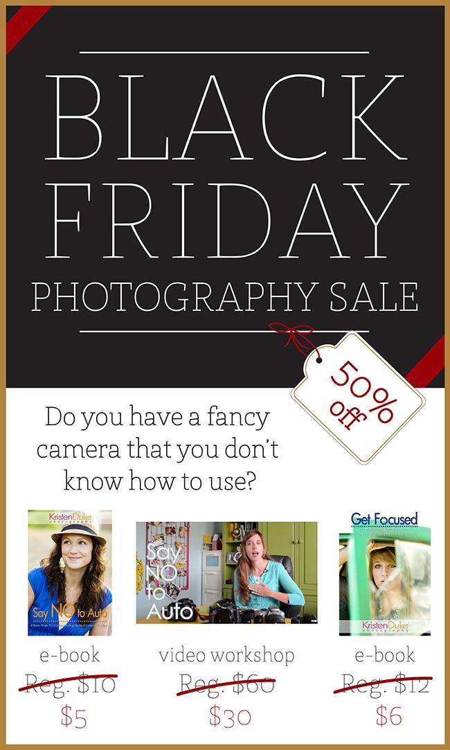 Black Friday Photography Sale