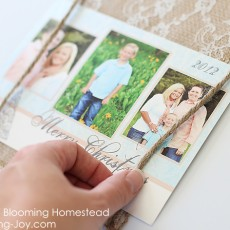 Christmas Card Photo display by Blooming Homestead copy