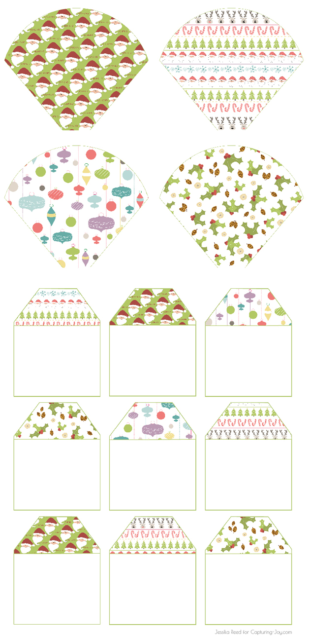 Christmas Gift Cones and Tags Patterns