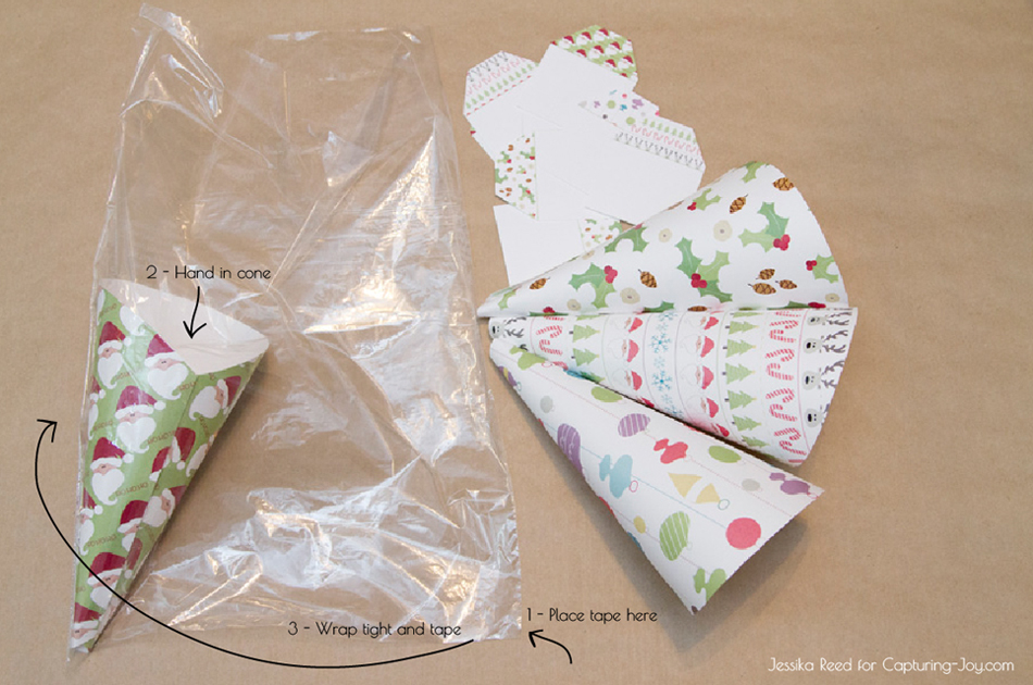 Christmas Gift Cones and Tags Instructions