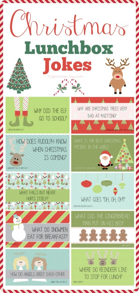 Christmas Jokes - Free Printable Christmas Joke Cards for Kids