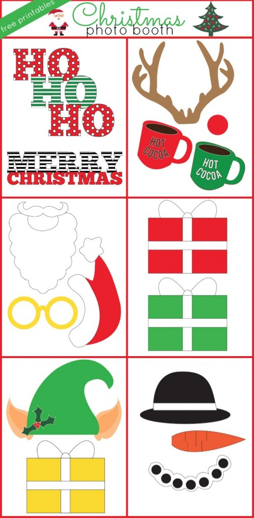 Christmas Photo Booth Free Printables