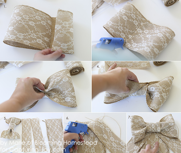 DIY Burlap Bow by Blooming Homestead