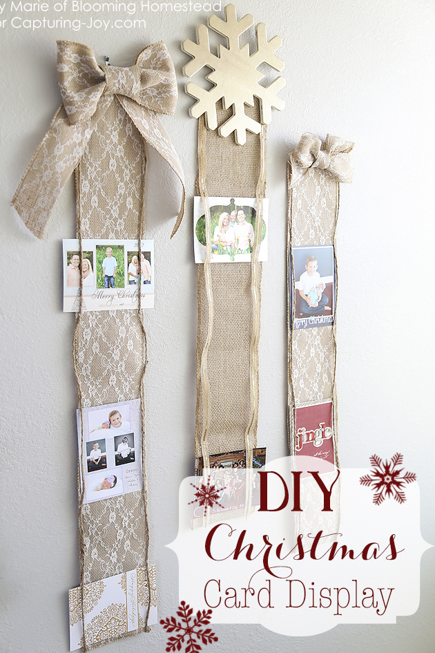15 creative ways to display holiday cards diy christmas card holder m4hsunfo