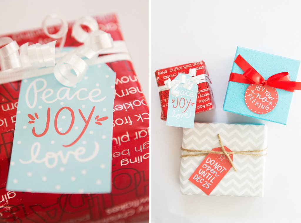 holiday gift tag free printables
