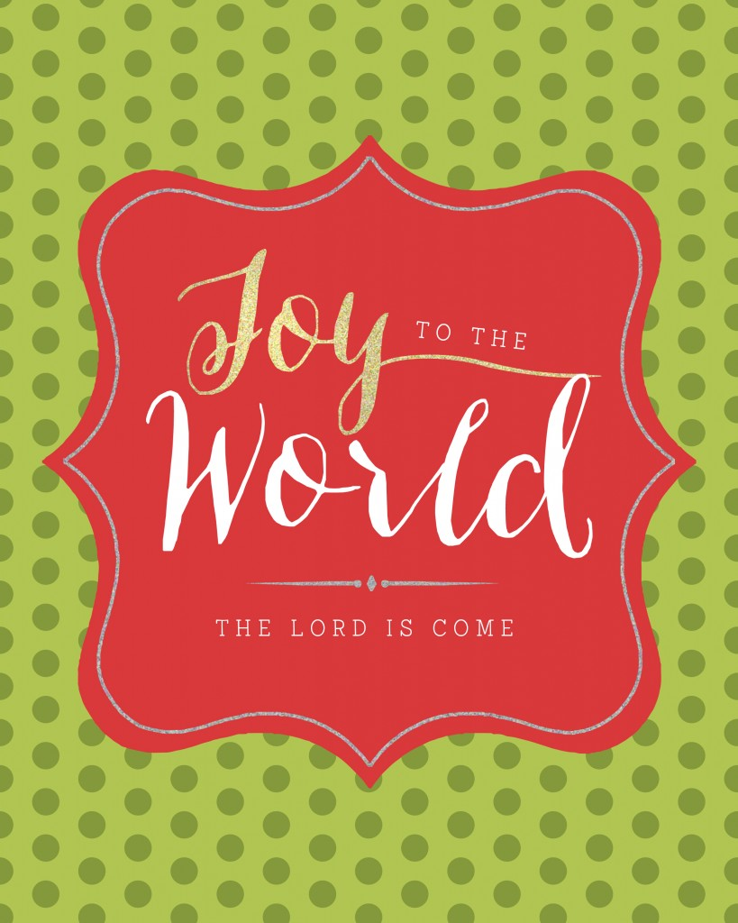 Joy to the World Polkadots Printable