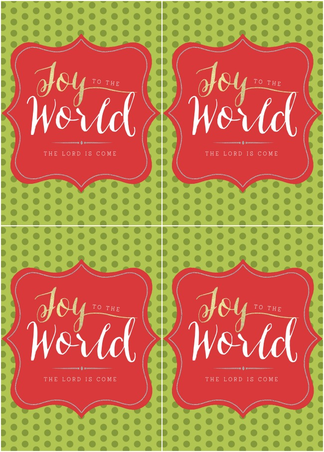 Joy to the World tags