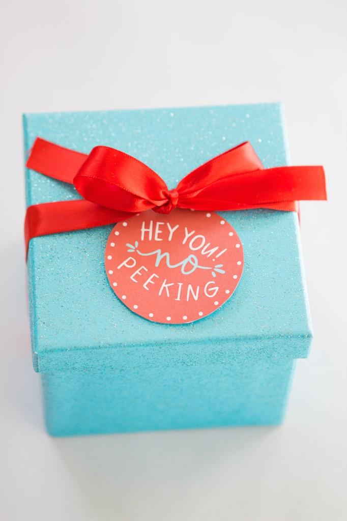 No Peeking Christmas Gift Tag