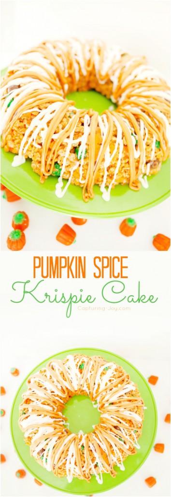 Pumpkin Spice Krispie Cake