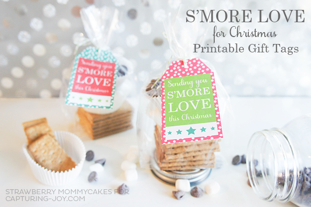Smore Love for Christmas Printable Gift Tags