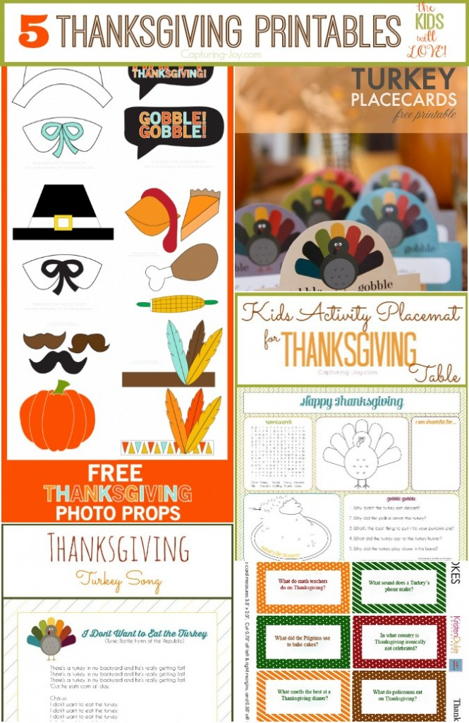 Ideas for the Thanksgiving activity table
