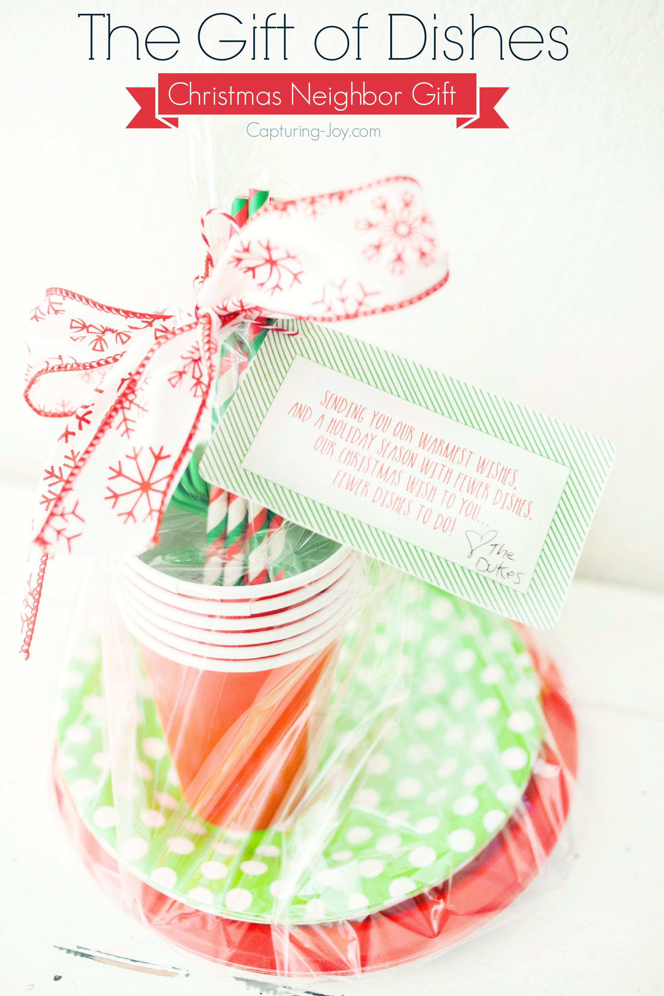 The Gift Of Dishes Christmas Neighbor Gift