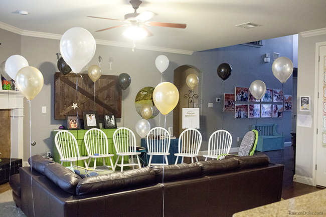balloons at party