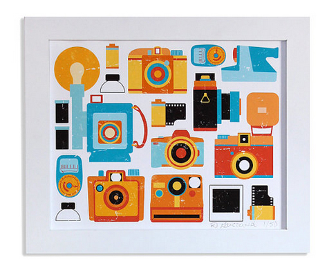 camera art print gift idea