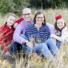 family pictures in field