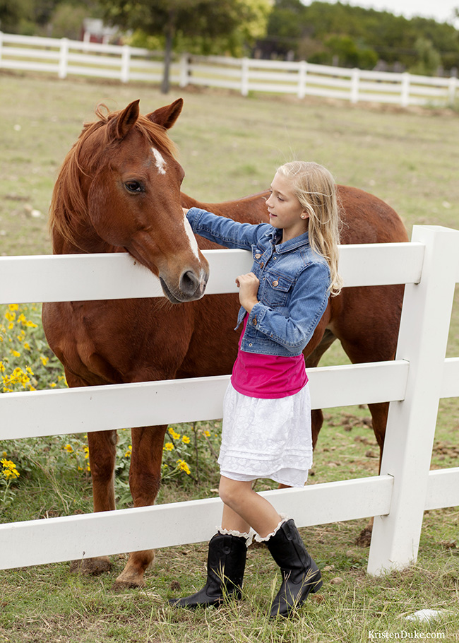 horse and girl picture