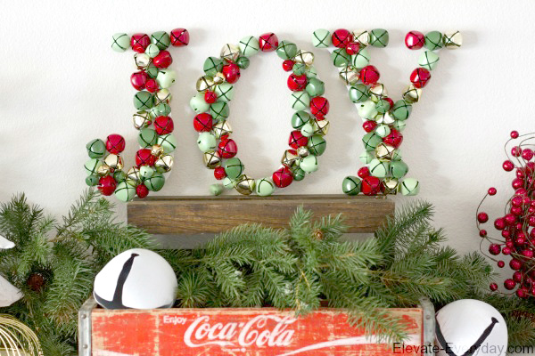 Jingle Bell JOY Letters Decoration Fascinating Decorative Jingle Bells