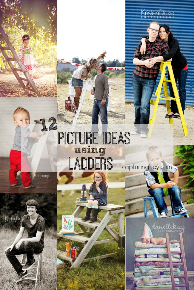 12 Picture Ideas using Ladders | capturing-joy.com