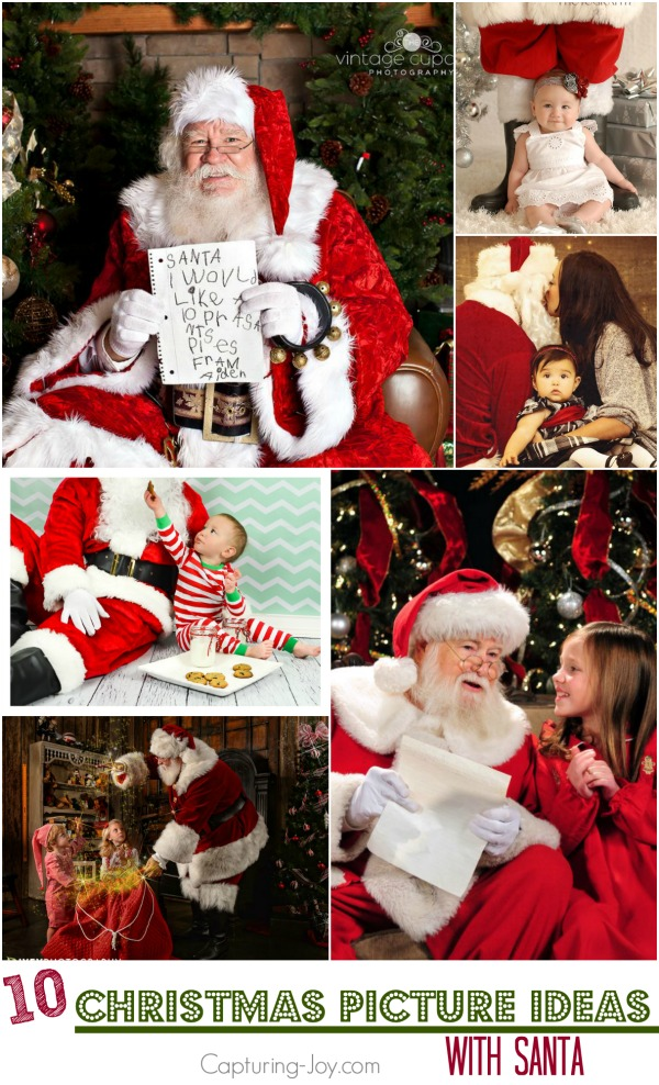 10 Christmas Picture Ideas with Santa| Capturing-Joy.com